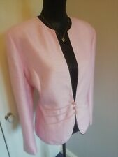 Jacques Vert Ladies Pink Jacket Size 18 Occasion Party Smart