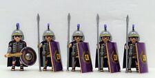 5 X Romain Pretorianer Garde Pourpre Playmobil Elite Kaiser Légionnaire Custom