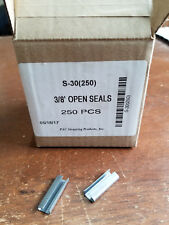 3/8 smooth steel seals for plastic strappng (S-30 PAC) box of 250