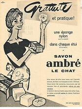 PUBLICITE ADVERTISING  1960   LE CHAT AMBRE  savon