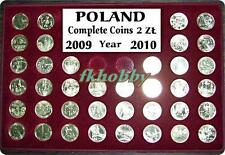 Poland 2009-10 coins 2zl complete year 38 coins + palette