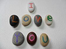 I Love You-BRIGHT Multicolore dipinto a mano Spiaggia Pebble Calamite per Frigo