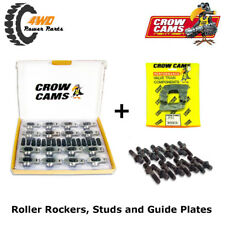 """Crow Cams Roller Rockers, 3/8"""" Studs & Guide Plates - Holden 6 Cyl 179 186 202"""