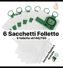 Sacchetti Folletto Vk140 Vk150 Kobold Per Vorwerk Aspirapolvere Folletto 6 Pz