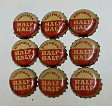 9 - HOFFMAN HALF - HALF - CORK BEER BOTTLE CAPS - NEWARK, NEW JERSEY