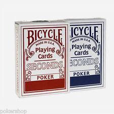6 cubiertas Tarjetas Bicycle Segundos Estándar Índice (azul-rojo)