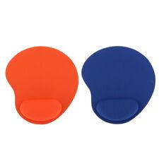 Alfombrilla De Ratón Con Soporte De Muñeca Gel Resto Mat Para Juegos Para Laptop Azul + naranja