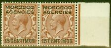 Morocco Agencies 1915 15c on 1 1/2d Red-Brown SG131var MOROCOO COO Error Fine