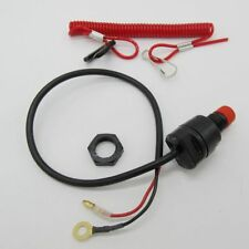 General Boat Outboard Engine Motor Kill Stop Switch with Safety Tether Lanyard