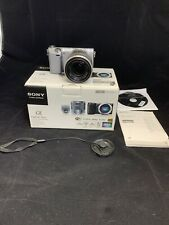 Sony Alpha NEX-5R 16.1MP Digital Camera - Silver (Kit w/ E OSS 18-55mm Lens)...