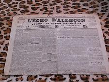 Journal - L'Echo d'Alençon n° 1410, 09/02/1922