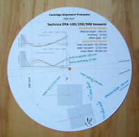 Technics EPA-100 / EPA-250 / EPA-500 Tonearm Cartridge Alignment Protractor