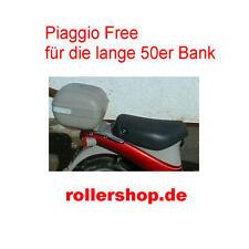 Sitzbank-Bezug für Piaggio FREE 25 Mofa, 45 cm lang. Handgenäht in Deutschland