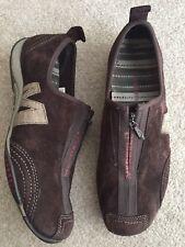 MERRELL Barrado Brown Suede Leather Zip Front Women Sneakers Comfort Shoes 7.5