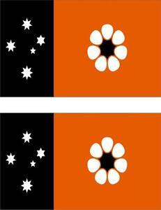 2 x Autocollant sticker voiture vinyl drapeau australie territoire nord