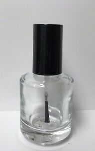 Empty Glass Nail Polish Bottle .5 oz. - Clear