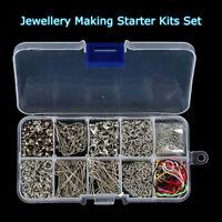 610Pcs Jewelry Making Tools Head Pins Chain Beads Handmade DIY Accessories + Box