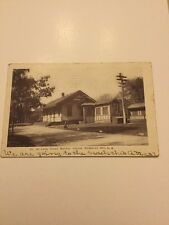 1900's Real Photo Postcard Railroad Station Richmond Hill Long Island New York