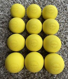 12 pack Yellow Brine NFHS NOCSAE lacrosse Lax BALLS