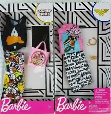 Barbie Complete Fashion Wonder Woman Looney Tunes Lot of 2 pieces