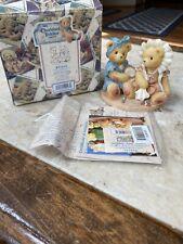 Cherished Teddies Justine & Janice Sisters And. Figurine # 537810 1998 Enesco
