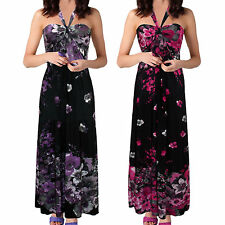 Floral Plus Size Halter Neck Long Sleeve Dresses for Women
