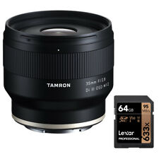Tamron 35mm F/2.8 Di III OSD Sony Full Frame Cameras Lexar 64GB SD Card Bundle