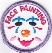 """SET OF 2 """"FACE PAINTING"""" PATCHES - Iron On Embroidered Applique/Games, Hobby,Fun"""