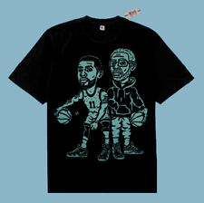 Fnly94 5 Black Mint Green Kyrie Irving Uncle Drew basketball shirt graphic tee
