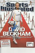 DAVID BECKHAM SIGNED SPORTS ILLUSTRATED JSA AUTHENTICATED LA GALAXY