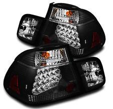 2002-2005 BMW E46 3-SERIES 325XI 330XI 4DR BLACK LED REAR TAIL BRAKE LIGHTS PAIR