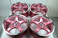 17 pink Wheels Rims Avenger Matrix Corolla Camry TSX Vibe Civic XB 5x100 5x114.3