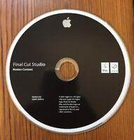 2007 Macintosh Mac Final Cut Studio Motion Content Software Install CD Version 2