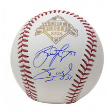 Brad Lidge & Carlos Ruiz Signed Phillies 2008 World Series Baseball (JSA COA)