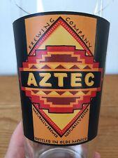 Vintage Aztec Brewing San Diego Olde Mexico Graphic Logo Clear Beer Pint Glass