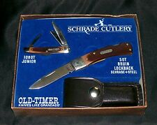 Schrade 5OT Knife SGS-6 Gift Set W/108OT Junoir 1987 Original Packaging, Papers