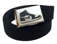 Custom Made Nike Shoes Logo Canvas Web Belt & Buckle