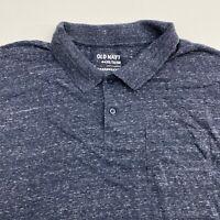 Old Navy Polo Shirt Mens XXL Blue Short Sleeve Casual
