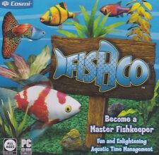 Fishco PC Games Windows 10 8 7 XP Computer fishkeeper time management sim NEW