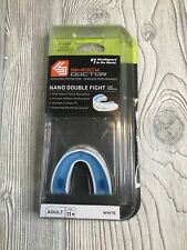Shock Doctor Nano Double Fight Low Profile Mouth Guard Mouthguard White Ages 11+