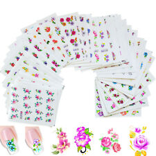 50 Sheets Different Flower Water Transfer Nail Art Stickers Nail Decal For Women