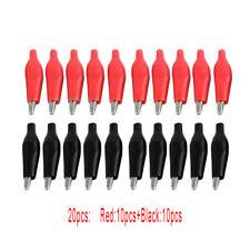 New 20 Pcs Black Red Soft Plastic Coated Testing Probe Alligator Clip Durable