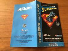 Color Custom Manual DEATH SUPERMAN SEGA Mega Drive PAL Version - AAA+++