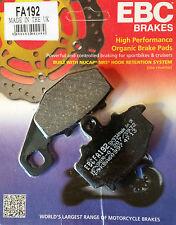 EBC/FA192 Brake Pads (Rear) - Kawasaki ZZR600, ZX6R, ER6F, ER6N, Versys, Z750S..