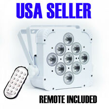 Uplight PAR Battery Powered, Wireless dmx, RGBAW, 9 LED, 15 watts, 2yrWarranty