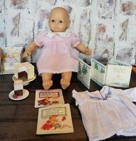 American Girl Bitty Baby Doll Blonde Blue Eyes Bundle Birthday Books