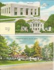GA~GEORGIA~DECATUR~LOT OF 2 LINENS~SCOTTISH RITE HOSPITAL~POST OFFICE~COURTHOUSE