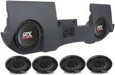 "Dual MTX 10"" Powered Subs+Box for 13-16 Dodge Ram Quad/Crew Cab+4) 6x9"" Speakers"