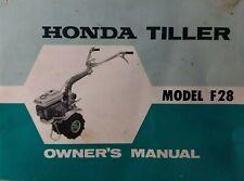 Honda F28 Walk-Behind Rotary Garden Composter Tiller 1970 Owners Manual