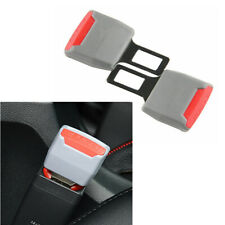 2pcs Universal Grey Car Seat Belt Buckle Clip Extender Safety Alarm Stopper